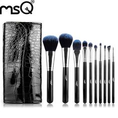 MSQ STB10b1 Professional 10pcs/set Facial Makeup Brushes Powder Blusher Cosmetics Makeup Brushes Set With a Bag Makeup Tool #Affiliate