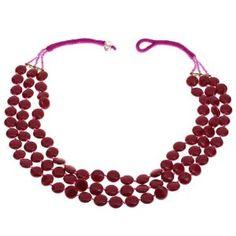 Collier rouge en perles - Bijou fantaisie - Idée cadeau noël: ShalinCraft: Amazon.fr: Bijoux