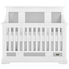Evolur Parker 5 in 1 Convertible Crib in 2 Tone, White and Dove Grey