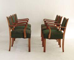 Italian Transatlantic Dining Chairs, Set of 6