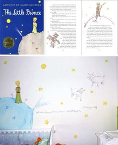 Look! Le Petit Prince Nursery Mural