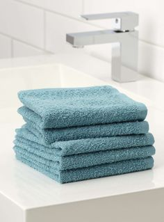 Les débarbouillettes couleur valeur Ensemble de 5 - Serviettes de bain   Simons