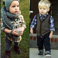 Little boys style. This is sooo cute but i think my hubby would kill me if I ever dressed our son like this (well if we have one)