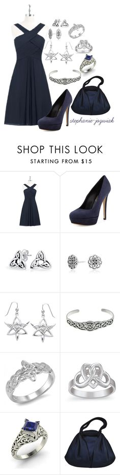"""Mallory's Dress for Dr. Kelly's Funeral"" by stephanie-jozwiak ❤ liked on Polyvore featuring Charles David, Bling Jewelry, Carolina Glamour Collection, Natures Jewelry and Diamondere"