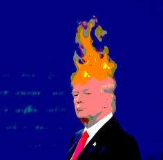 "Saatchi Art Artist Rob Prince; New Media, ""Donald Trump: Spontaneous Combustion - Limited Edition 1 of 5"" #art"