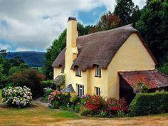 Selworthy Irish Cottage, Cozy Cottage, Cottage Homes, Cottage Style, Tudor Cottage, Cottage Design, Somerset Cottage, Cottage Gardens, Fairytale Cottage