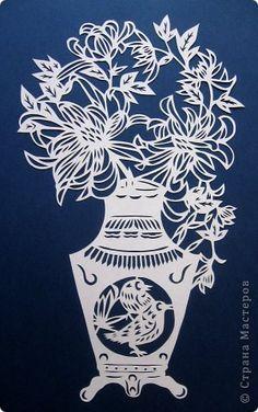 Картина панно рисунок Вырезание Цветы Бумага фото 7