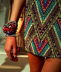 Intricate colourful   prints