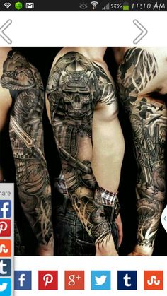SAMURAI warrior sleeve tattoo