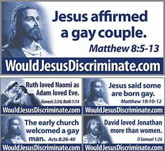 The bible has been translated multiple different times,,, the original never says anything about homosexuality. Jesus loves everyone!<< correct things can easily be lost in translation but the bible has one over all rule love thy neighbor as thyself Faith In Humanity, Jesus Quotes, Gay Pride, Mood, Equality, Christianity, Bible Verses, Sayings, Humor