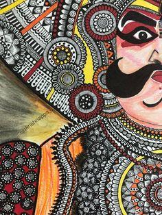 Trendy watercolor art face to draw 20 ideas Mandala Art Lesson, Mandala Drawing, Mandala Artwork, Madhubani Art, Madhubani Painting, Pencil Art Drawings, Art Drawings Sketches, Disney Drawings, Tattoo Drawings