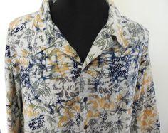 Big & Tall Shirt 5XT Short Sleeve Cotton Multi Color Abstract Harbor Bay  #HarborBay #ButtonFront #BigandTall #Menswear #Apparel #Shopping #eBay