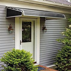 NuImage Awnings Door Canopy Aluminum Awning in Slate Blue reduces summer cooling cost while keeping you safe from the elements. & NuImage Awnings 3.33 ft. 1100 Series Door Canopy Aluminum Awning ...