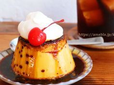 Cute Food, Yummy Food, Flan, Eat Pray Love, Rice Cakes, Cake Shop, Coffee Roasting, Food Illustrations, Confectionery