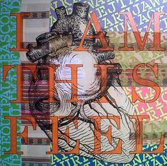 """""""Anatomía Comparada de un Sentimiento etereamente concreto"""" 120 x 120 cm. técnica mixta / lienzo mixto  Obra con la que participo en Emerging Artist Lima 2014"""