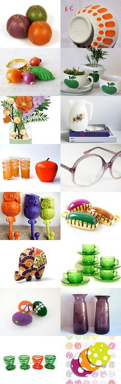 Timeless alchemy of the Orange, Green and Purple by Sylvia Simon on Etsy--Pinned+with+TreasuryPin.com