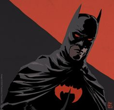 Another great one from Francavilla: Batman Red Batman And Batgirl, Batman Dark, I Am Batman, Batman The Dark Knight, Batman Comics, Batman Robin, Comic Book Characters, Comic Character, Comic Books