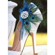 Peacock heels - so cute!