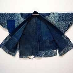 Lady Farmer's Jacket Indigo Cotton Katazome