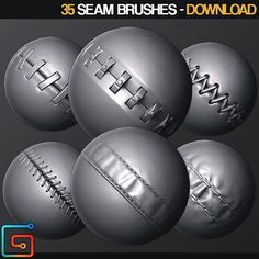 ZBrush - 35 Seam Brushes, jonas ronnegard on ArtStation at https://www.artstation.com/artwork/gL4qG
