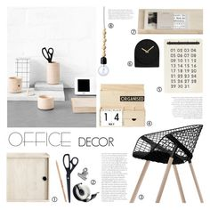 """Office Decor"" by c-silla ❤ liked on Polyvore featuring interior, interiors, interior design, home, home decor, interior decorating, HAY, Alias, String and House Doctor"