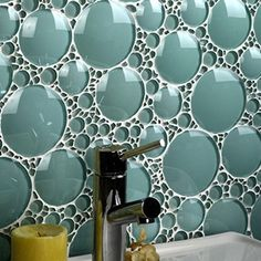 Modern Glass CRAZY FUN! This isn't your mother's glass tile. While normal glass backsplashes feature either a whole sheet of glass or glass subway tiles, Everstone is putting out uniquely shaped designs, from pointy shards to circular bubbles. Photo: