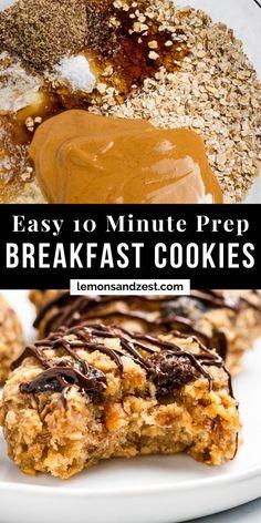 Peanut Butter Breakfast, Oatmeal Breakfast Cookies, Breakfast Cookie Recipe, Banana Oatmeal Cookies, Peanut Butter Oatmeal, Healthy Breakfast Cookies, Banana Breakfast Recipes, Sweet Breakfast, Breakfast Time