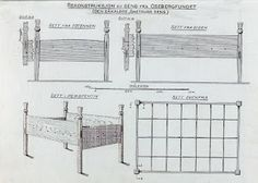 Oseberg bed 2 drawing. - St. Thomas guild - medieval woodworking, furniture and other crafts