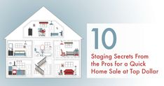 10 Staging Secrets for a Quick Home Sale at Top Dollar - These easy and cost-effective ideas will help your house look its best- and help buyers visualize themselves living there. Real Estate Staging, Real Estate Sales, Real Estate Marketing, Home Staging, Austin Real Estate, Dark House, Diy Projects To Sell, Photo Transfer, How To Memorize Things