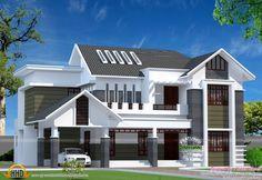 2800 Sq Ft Modern Kerala Home Kerala House Design Modern House Facades House Balcony Design