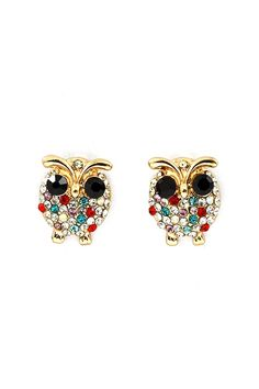 Owl earrings!!
