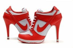 check out 0f413 78b89 Art Chicks in Kicks Nike Dunk High Stilletos footwear