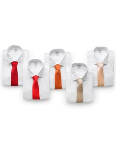 Offer your fiance's groomsmen a range of tie colors so they don't look too matchy-matchy. Pick different shades in the same color family -- from vibrant red to soft peach, for instance. That way the group appears coordinated, but each guy looks unique. Fall Wedding, Our Wedding, Wedding Gifts, Dream Wedding, Autumn Weddings, October Wedding, Wedding Men, Wedding Attire, Wedding Bells