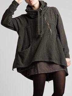Lurdes Bergada - Abrigo oversize gris oscuro