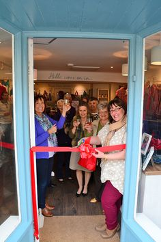Helmsley Women's Institute cutting the ribbon at the new Tulchan Helmsley store