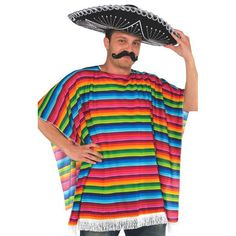 Let's Party With Balloons - Multicoloured Mexican Poncho, $27.00 (http://www.letspartywithballoons.com.au/multicoloured-mexican-poncho/?page_context=category
