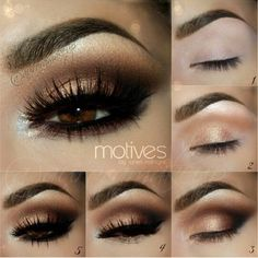 Easy gold to bronze smokey eye tutorial - this look is stunning...x