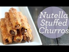 Nutella Stuffed Churros - Handle the Heat