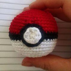 Pokébola Crochê | Amigurumi | Pokémon Go