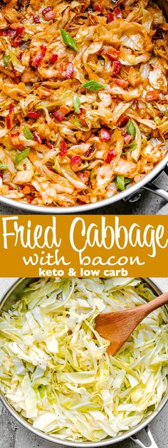 keto friendly salads Fried Cabbage Delicious, low-carb comfort food prepared with cabbage and bacon! Quick and easy Keto-friendly side dish perfect for a weeknight meal. Crockpot Side Dishes, Side Dishes For Chicken, Vegetable Side Dishes, Side Dish Recipes, Keto Recipes, Dinner Recipes, Stew Chicken Recipe, Easy Crockpot Chicken, Cabbage Side Dish