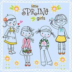 little SPRING girls