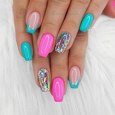 Glam Nails, Hot Nails, Fancy Nails, Beauty Nails, Pretty Nails, Best Acrylic Nails, Acrylic Nail Designs, Nail Art Designs, Nails Design