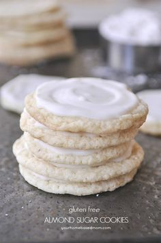 Gluten Free Almond Sugar Cookies