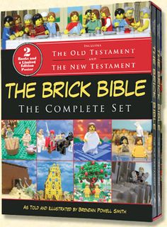 The Brick Testament. Awesome looking book! The website has hundreds of pictures of bible scenes made out of lego.