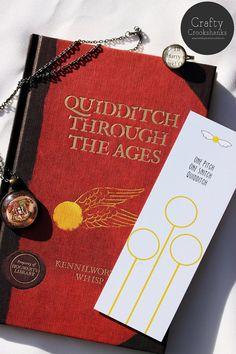 Harry Potter Bookmark: Quidditch Pitch by CraftyCrookshanks on Etsy