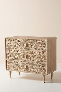 In a farmhouse design, the side table seems to have important roles that are unreplaceable. The farmhouse side table is Three Drawer Dresser, Dresser Drawers, Bedroom Furniture, Furniture Design, Bedroom Decor, Dresser Furniture, Furniture Layout, Furniture Market, Furniture Movers