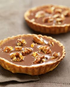 Tartelettes de Chocolate com Caramelo e Noz