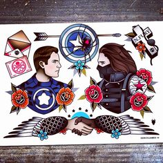 I would definitely get the Winter Soldier one but I would have Loki on the other side instead. Sorry Cap.