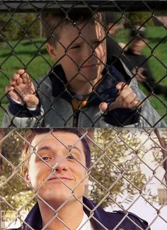 This is too cute. He still loves fences.