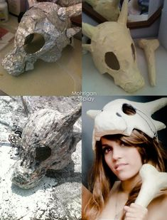 How to make cosplay items with aluminum foil and paper mache And OMG is that a CUBONE cosplay!?:
